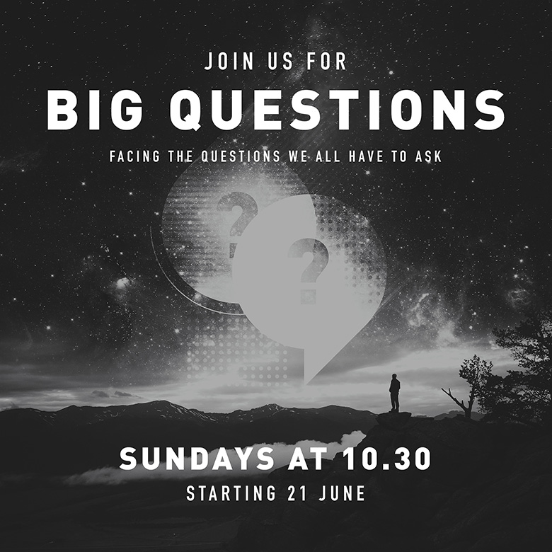 Sermon Series Graphic – Big Questions – Facing the questions we all have to ask